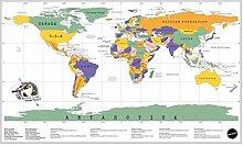 WSF-CARTE, 1pc Deluxe Travel World Scrape Plan