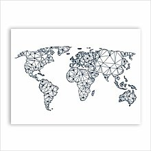 WSF-CARTE, 1PC World Carte Toile Art Imprimer