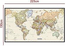 WSF-CARTE, Carte du monde 1PC Projection Mercator