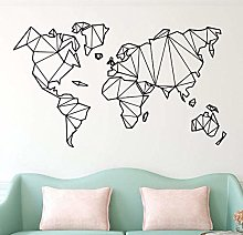 WSQYSF Abstrait Géométrique Carte du Monde