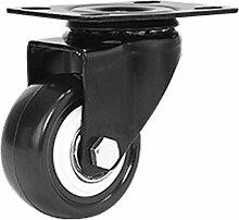 WSWJ 1,5 Pouces PVC Universel Caster Truckle