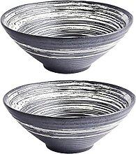 WSYW Lot de 2 bols à nouilles en céramique -