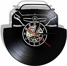 wszhh Voiture Automobile Horloge Murale Faite De