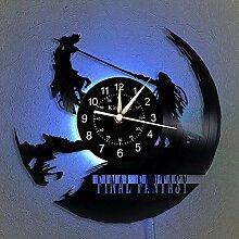 wtnhz LED-Horloge Murale à Disque Vinyle Final