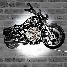 WTTA Horloge Murale en Vinyle-Horloge Murale pour