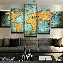 WUHUAGUO Impression en Image Carte du Monde