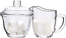 WUWEOT Set de sucrier et pot à lait pour café et