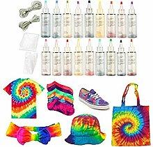 WUYANSE Kit Tie-Dye Set One-Step DIY Tie Dye Set