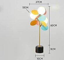 Wuyuesun Lampes moderne fleur en métal léger sol