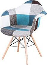 WV LeisureMaster Lot de 2 chaises patchwork