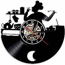 Wwbqcl Cuisine Chef Horloge Murale Design Moderne