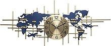 WWSS 38 Pouces Carte du Monde Horloge Murale