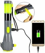 WXH Lampe de Poche Rechargeable à manivelle,
