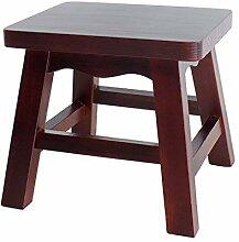 WXQIANG Petit tabouret carré en bois massif pour
