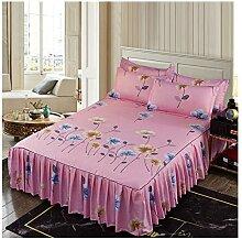 WXQY 3pcs Jupe de lit Cache- sommiers Bed Skirt