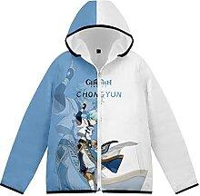 WXXT Doudoune Sweatshirt Capuche Fermeture