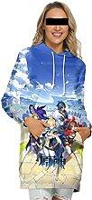 WXXT Sweatshirt Capuche,Genshin Impact Jean Robe