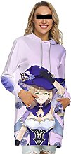 WXXT Sweatshirt Capuche,Genshin Impact Lisa Robe