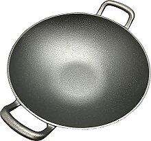 WYCGD Poêle wok en fonte binaural à