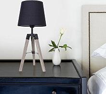 WYCTIN®Lot de 2 lampes de chevet trépied en bois