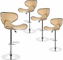 Wyctin - Lot de 4 Tabouret de bar, chaise reglable