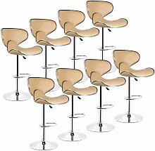 Wyctin - Lot de 8 Tabouret de bar, chaise reglable