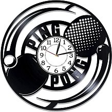 WYDSFWL Horloge Murale Tennis de Table Vinyle