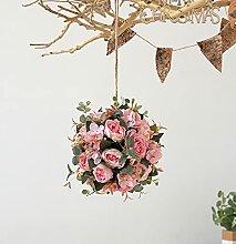 Wyi Bouquet de pivoines artificielles de 19,8 cm