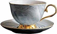 WYJJP Tasse à café et soucoupe en céramique de