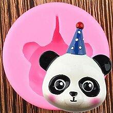 WYNYX 3D Animaux Panda Silicone Moule Anniversaire