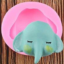 WYNYX Éléphant Silicone Moule 3D Artisanat