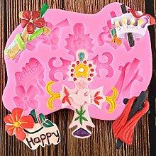 WYNYX Fleur Silicone Moule Halloween Cupcake