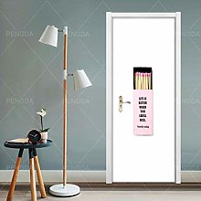 WZKED Stickers De Porte, 3D Auto-Adhésif Moderne
