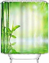 X-Labor Rideau de douche en bambou - 240 x 200 cm