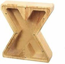 X Tirelire créative avec lettres de