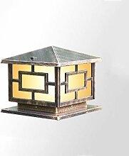 XCTLZG Lampadaire de Colonne en Bronze Rustique