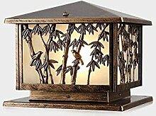 XCTLZG Lampes de Colonne en Bambou Lampes de