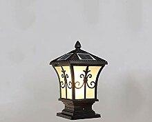 XCTLZG Lampes de Pilier de Mur de clôture LED