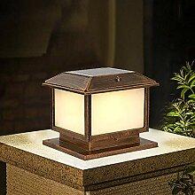 XCTLZG Lampes de Poteau de Colonne en Bronze