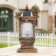 XCTLZG Lampes de Poteau de Colonne Solaire Antique
