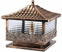 XCTLZG Lampes de Poteau de Colonne Victorian