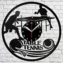 XDG Tennis de Table Vinyle Horloge Murale LP