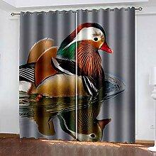 XGFWMS Rideau Salon Occultant Moderne - 3D Oiseaux