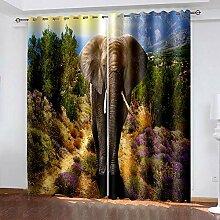 XGFWMS Rideau Salon Occultant Moderne - 3D Paysage