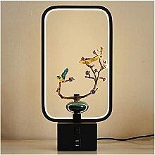 XGJJ Nouveau Table de Style Chinois Lampe rétro