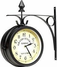 XIA Horloge de gare retro double face New York