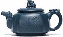 Xiang Ye Théière quatre Fangteng en terre cuite