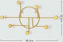 xiangwang Crochet décoratif nordique en fer doré