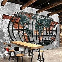 XIANRENGE Papier peint mural 4D rétro nostalgique