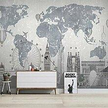 XIAOHUKK Autocollant 3d papier peint mural moderne
